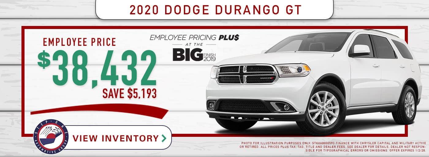 CDJR Fort Walton Beach - 2020 Dodge Durango GT