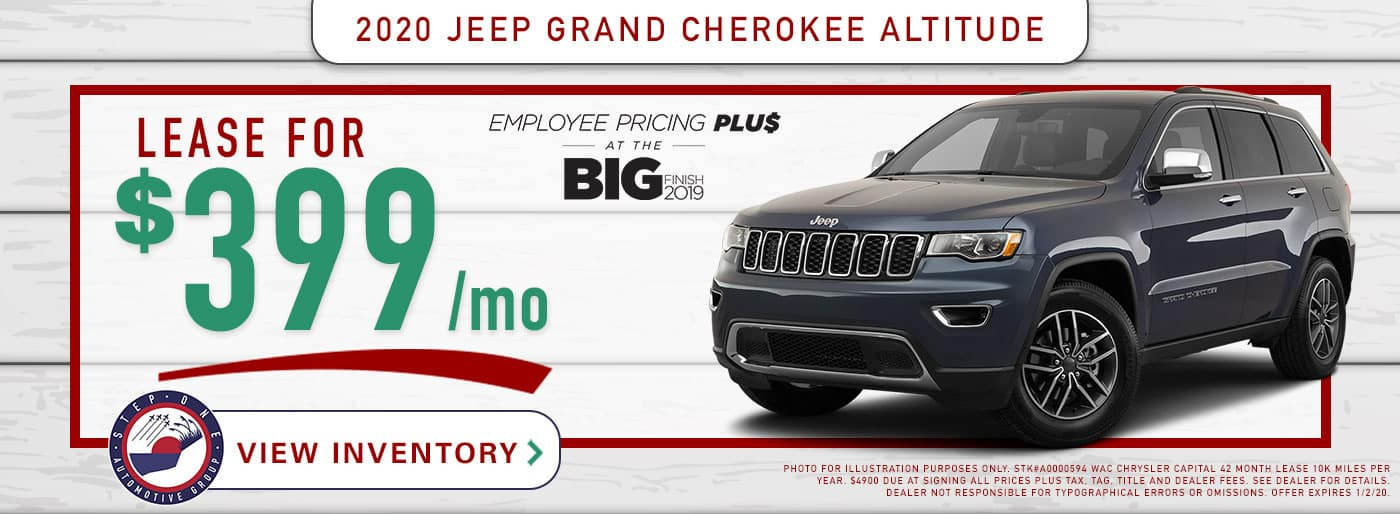 CDJR Fort Walton Beach - 2020 Jeep Grand Cherokee Offer