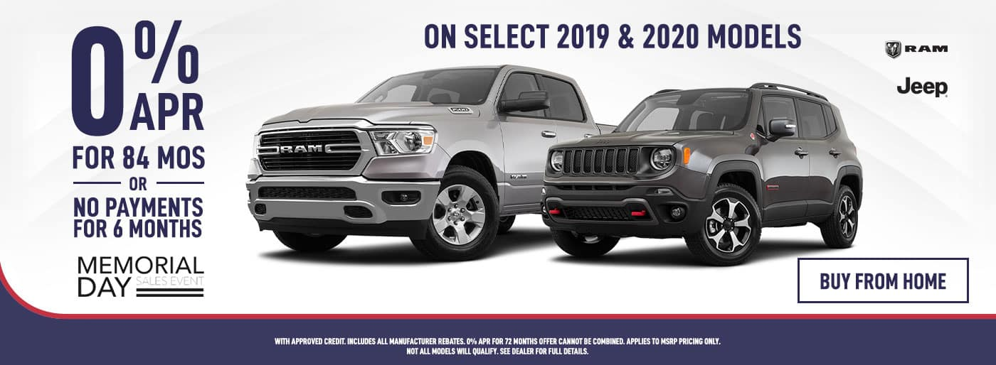 0% APR for 84 Months on Jeep & RAM