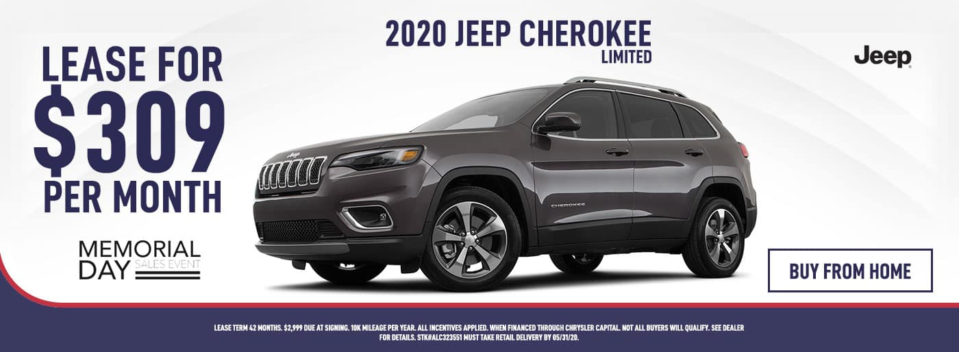 2020 Jeep Cherokee Lease Offer