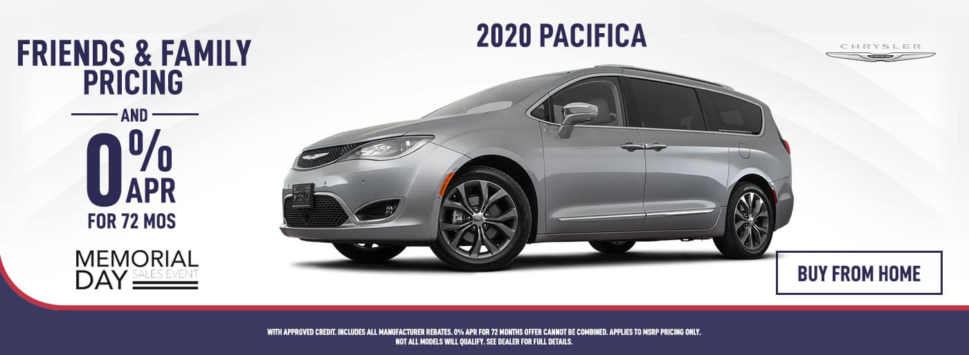 2020 Pacifica Friends and Family Pricing