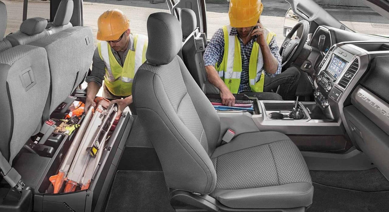 2019 Ford Super Duty under-seat box
