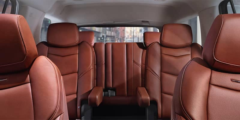 Cadillac Escalade Seating Configuration from Front Looking Back