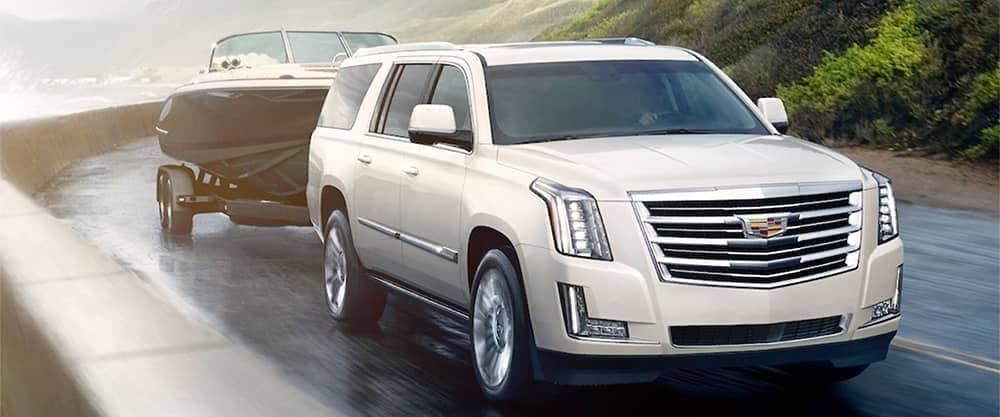2020 Cadillac Escalade Towing a Boat
