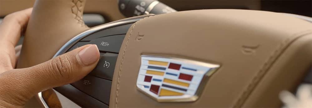 Cadillac Steering Wheel Closeup