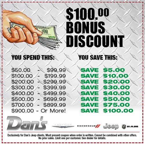 Bonus Discount