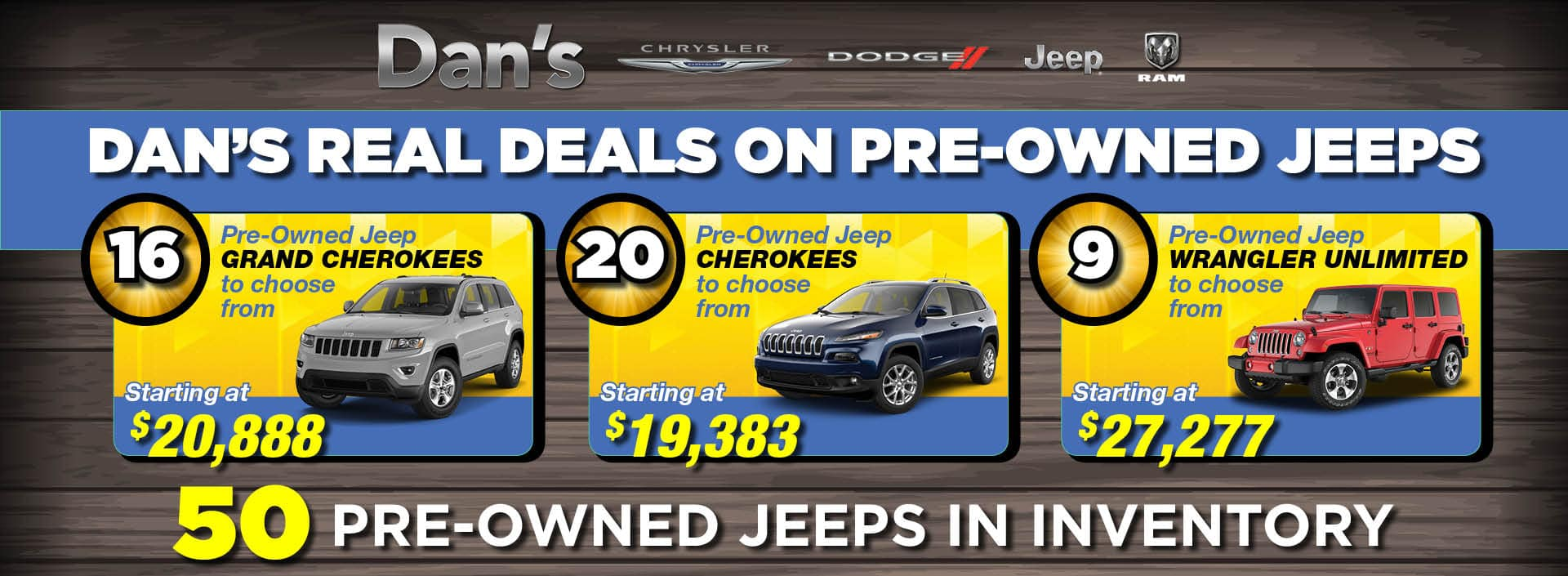 Pre-owned Jeeps