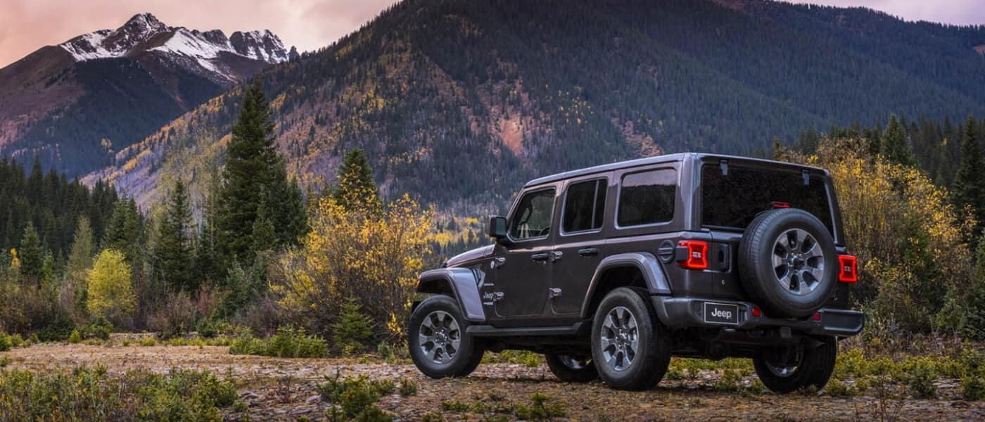 2019 Jeep Wrangler exterior overlooking mountains