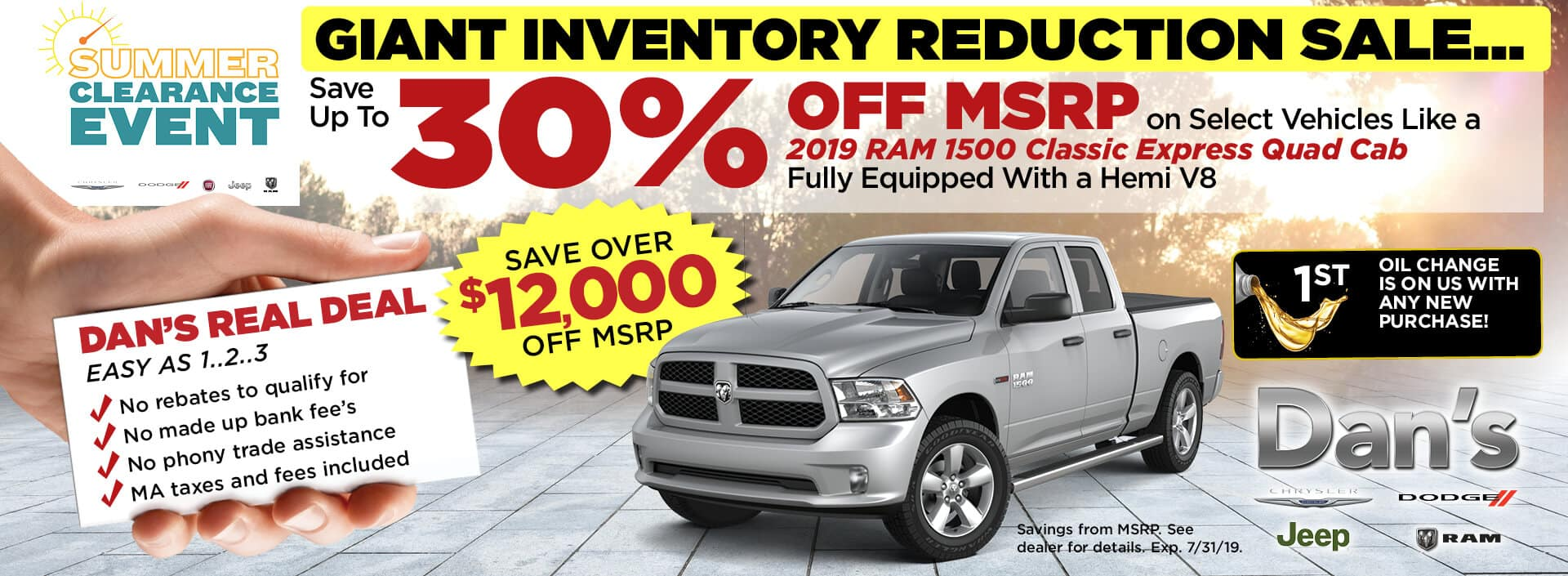 30% off MSRP on Select 2019 Ram 1500 Classic