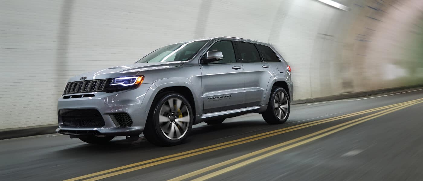 2019 Jeep Grand Cherokee driving in a tunnel