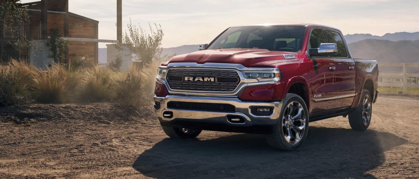 2019 Ram 1500 parked in a desert