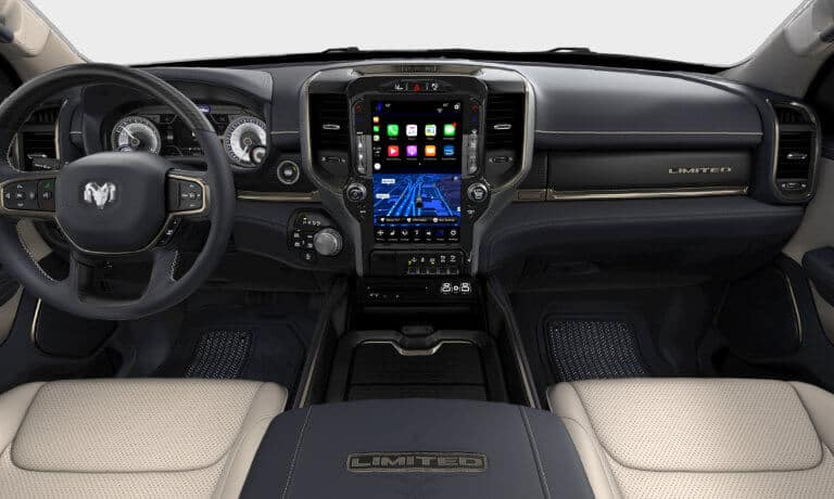 2019 Ram 1500 Limited front interior and infotainment