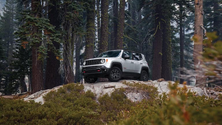 2019 Jeep Renegade Trailhawk® on a hill