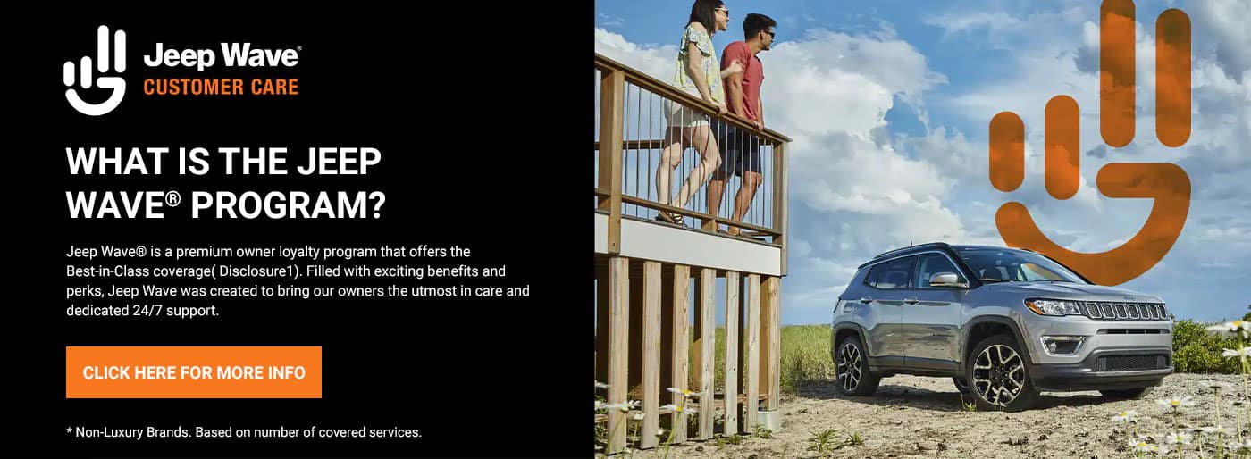Jeep Wave® is a premium owner loyalty program that offers the Best-in-Class coverage