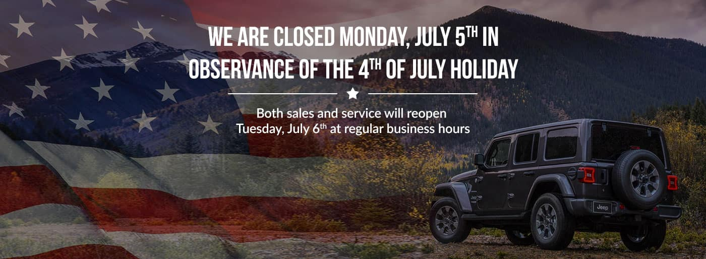 closed Monday, July 5th
