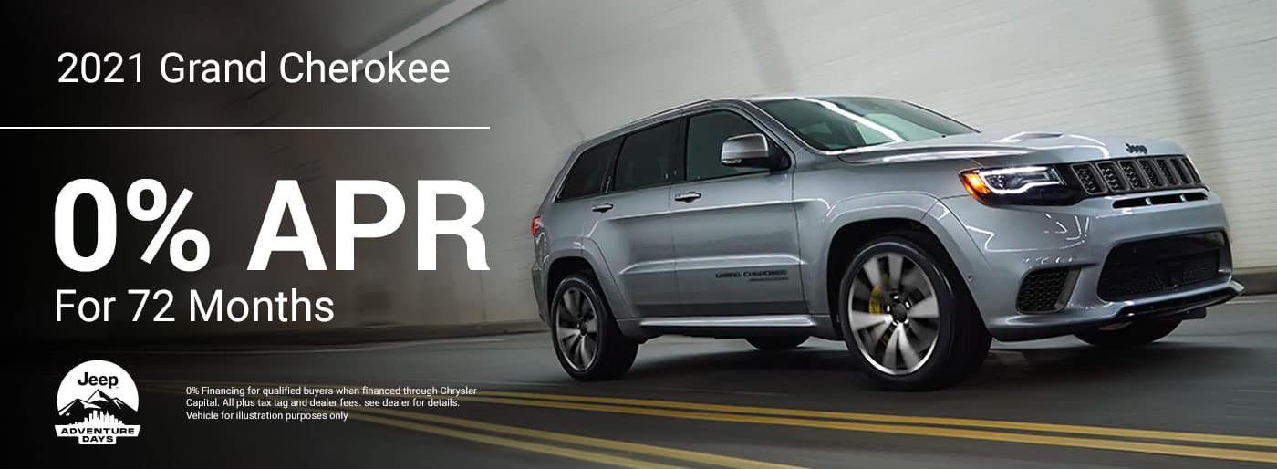 2021 Grand Cherokee Get 0% For 72 Months