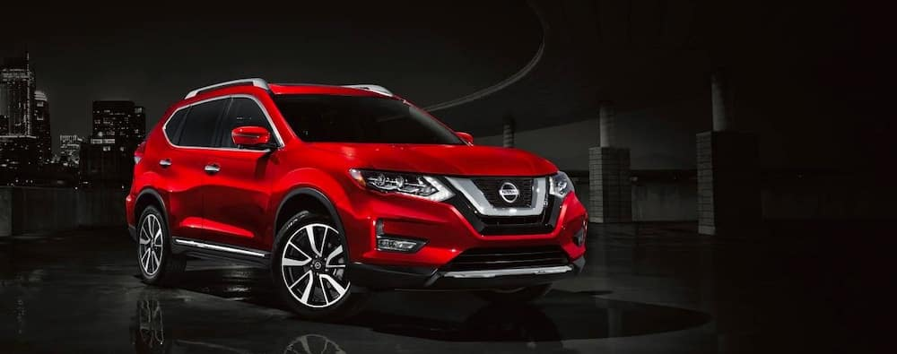2019 Nissan Rogue exterior in red