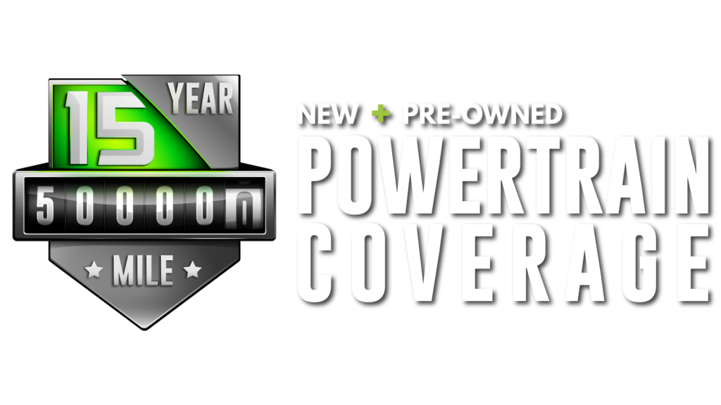 15 Year 500,000 Mile New + Pre-Owned Powertrain Coverage