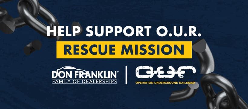 Help support O.U.R. Rescue mission.