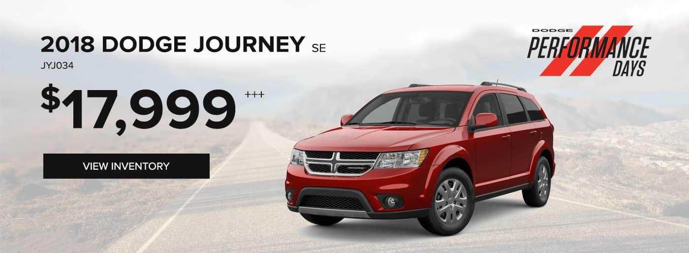 2018 Dodge Journey SE Special Offer
