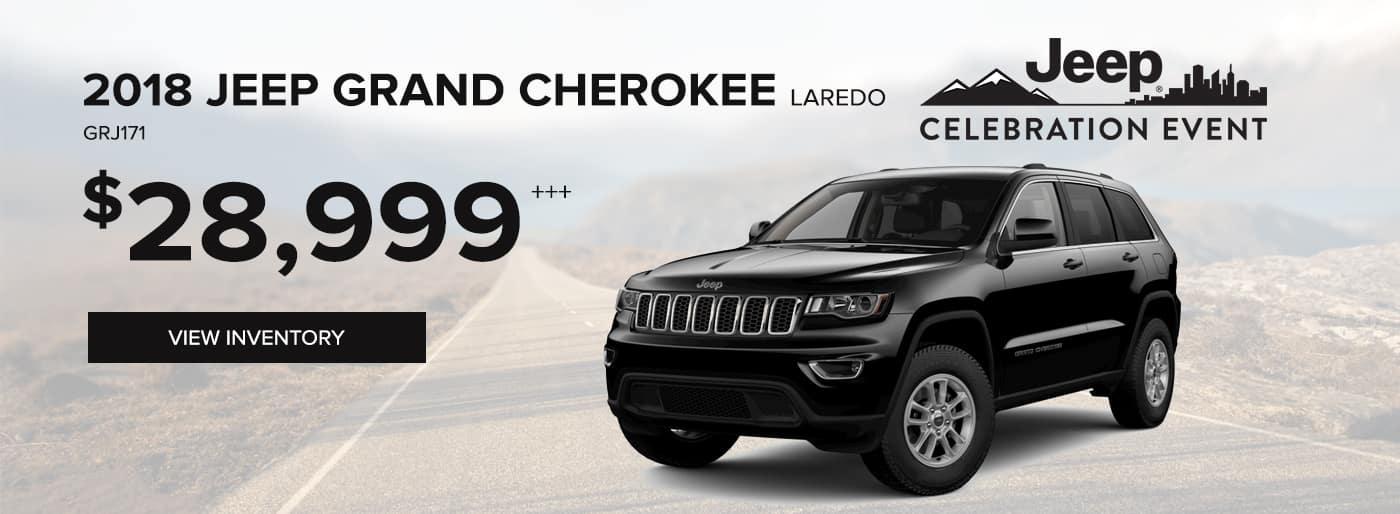 2018 Jeep Grand Cherokee Laredo Special Offer