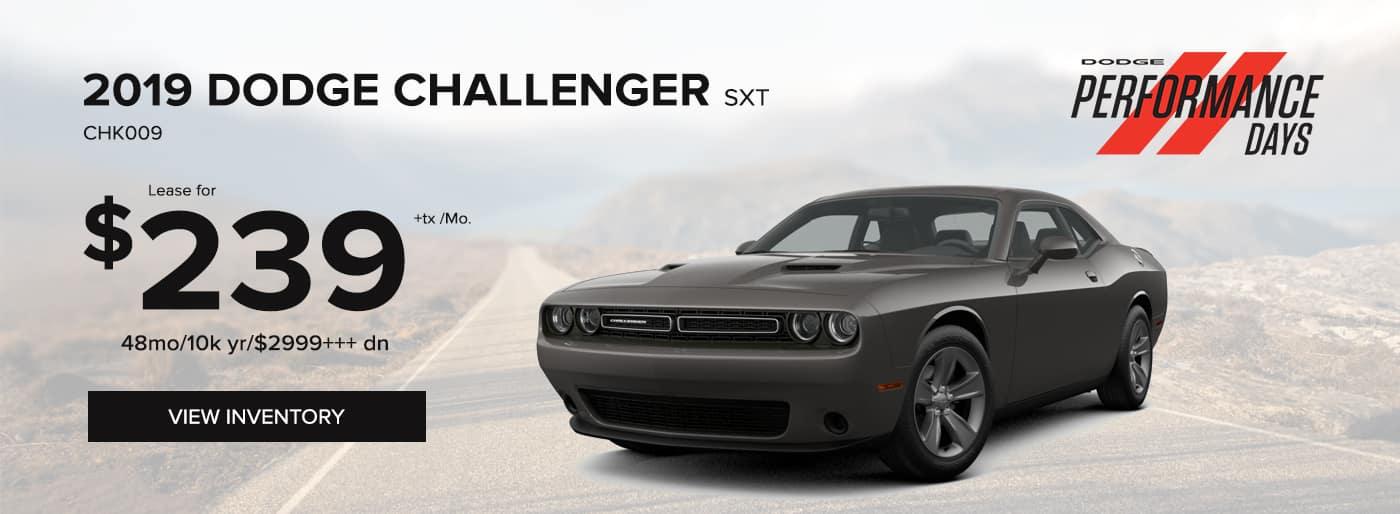 2019 Dodge Challenger SXT Special Offer