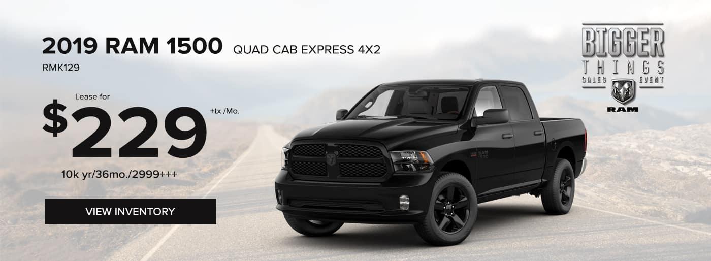 2019 RAM 1500 Quad Cab Express 4x2 Special Offer