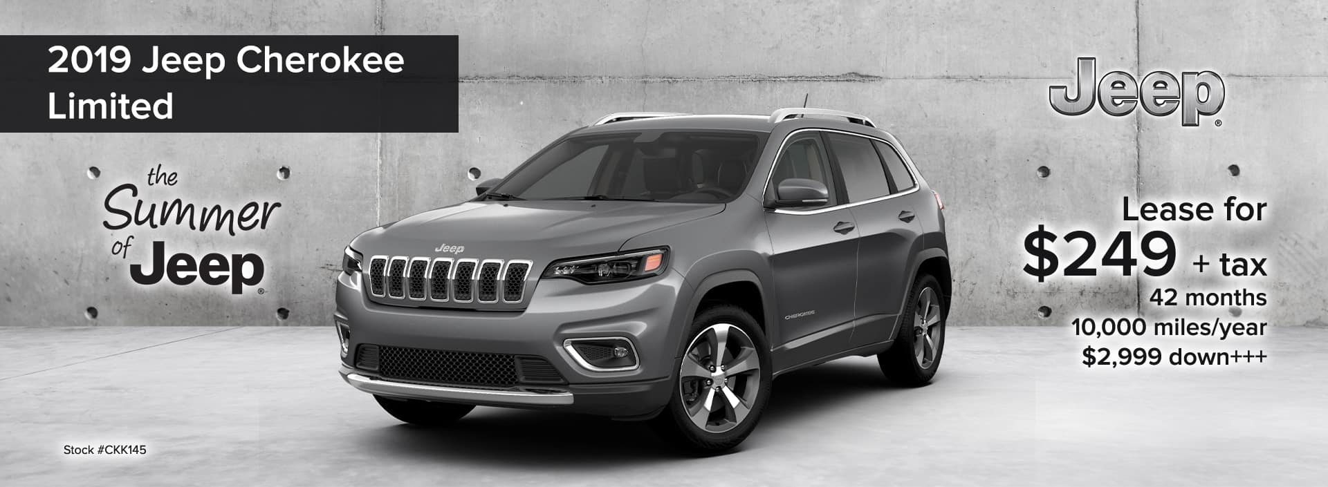 2019 Jeep Cherokee Limited The Summer of Jeep Event_August 2019 desktop