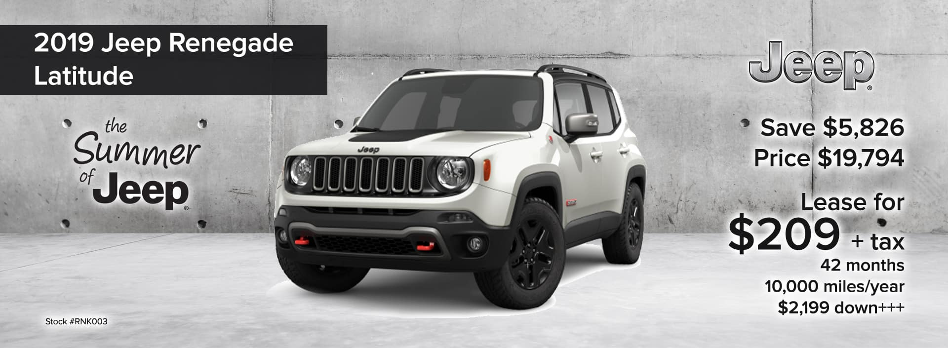 2019 Jeep Renegade Latitude The Summer of Jeep Event_August 2019 desktop
