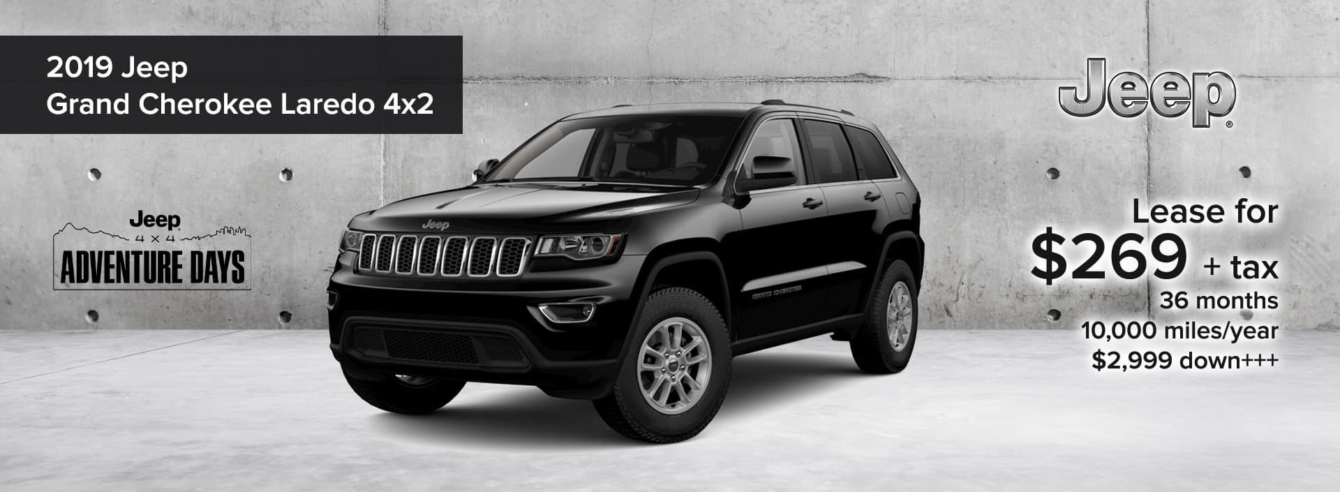 2020 Jeep Grand Cherokee Laredo 4x2 Jeep 4x4 Adventure Days Lease Deal