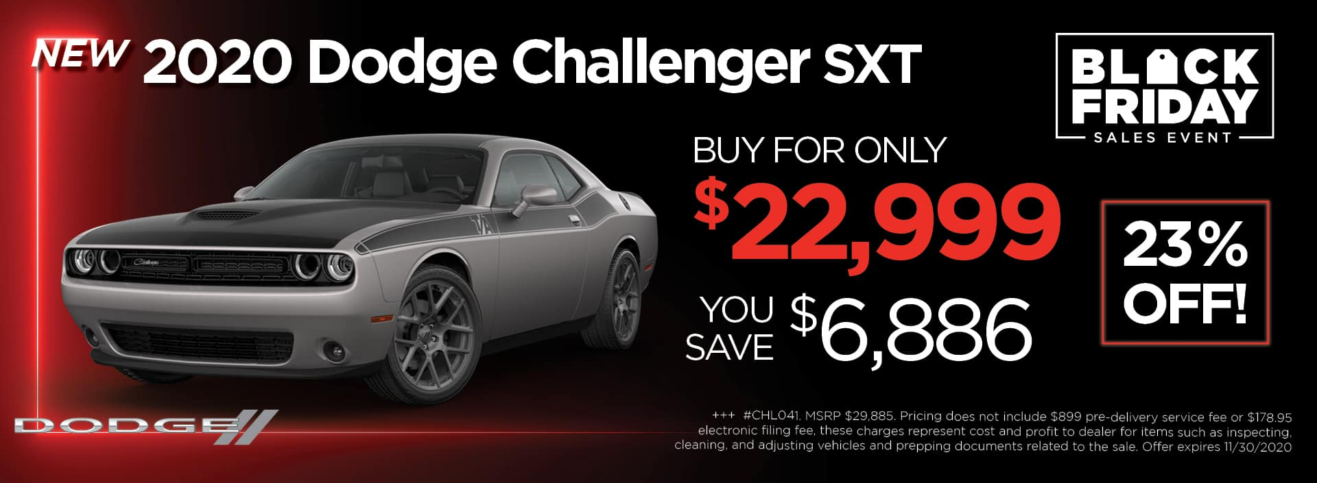 Dodge Challenger BlackFriday