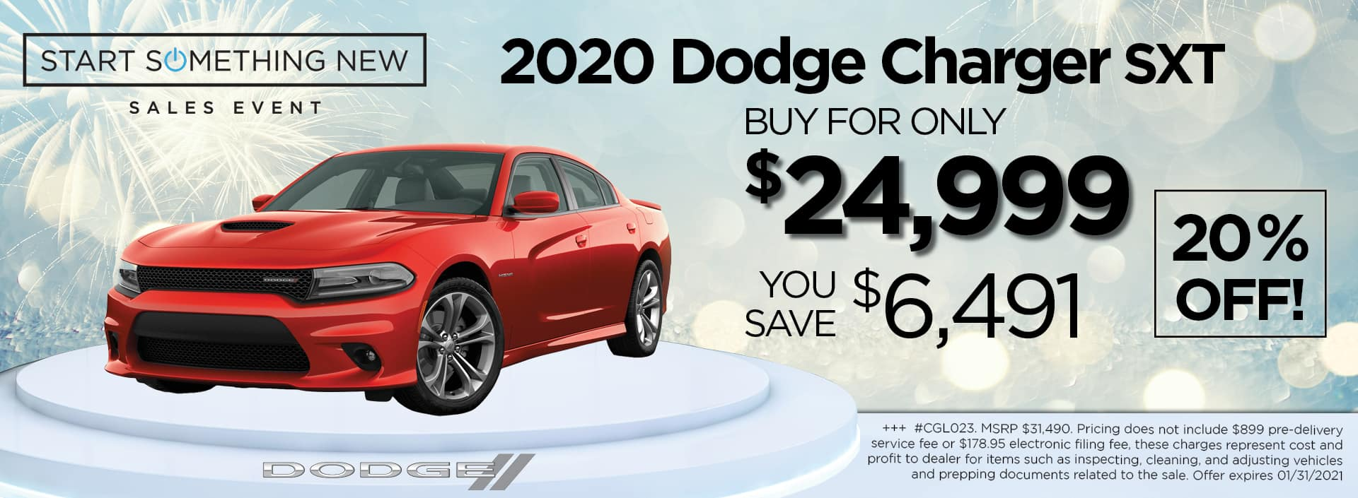 2020 Charger 24999