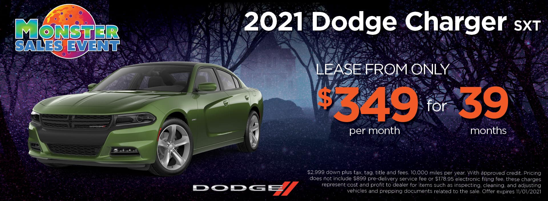 21 Dodge Charger 349 39mos