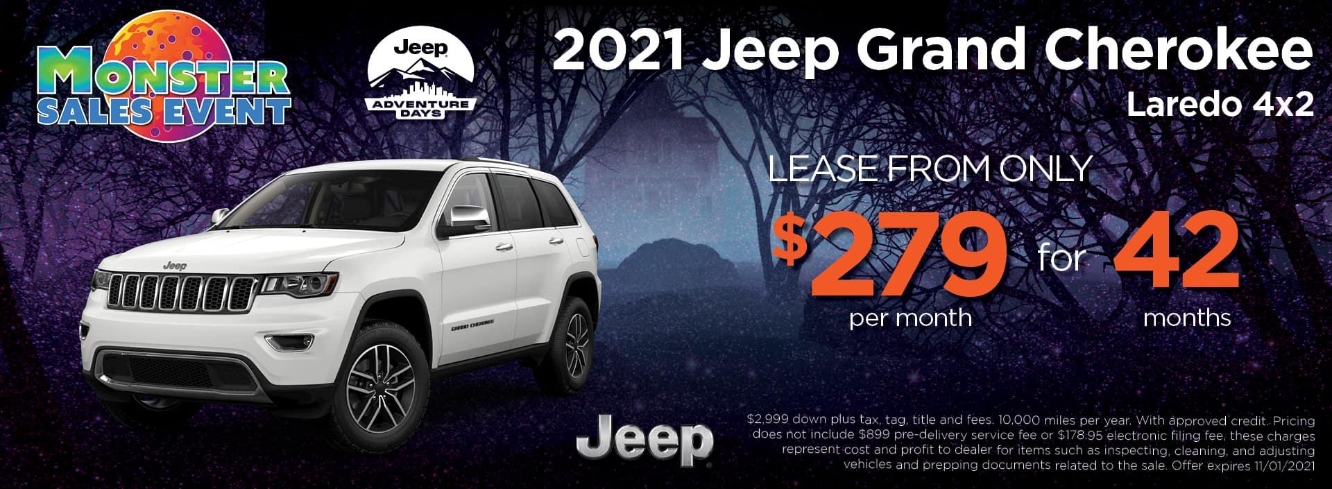 21 Jeep Grand Cherokee 279 42mos