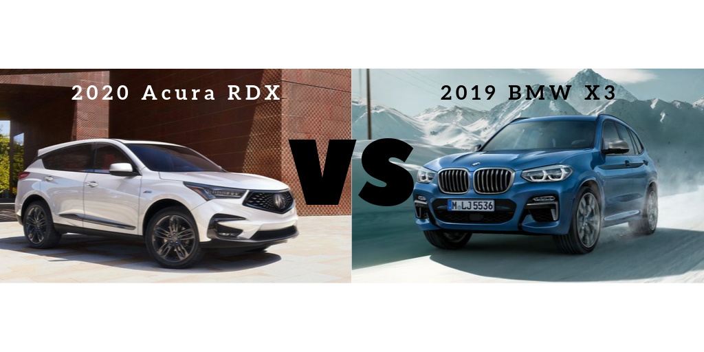 Crossover Vs Suv >> Luxury Crossover Challenge 2020 Acura Rdx Vs 2019 Bmw X3