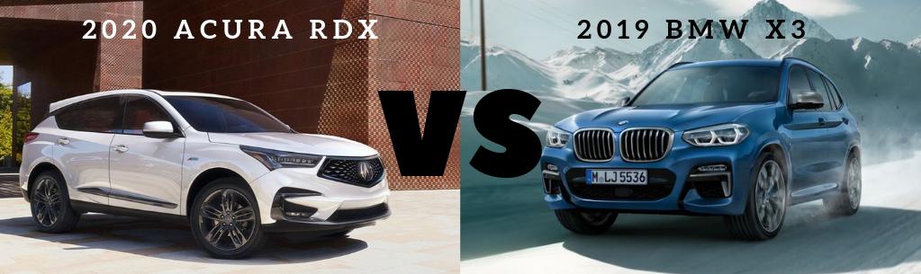 Ed Voyles Acura Comparison RDX vs BMW X3