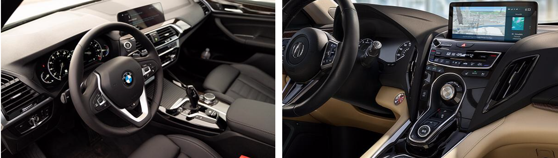 2019 Acura RDX vs BMW X3 Interior Features