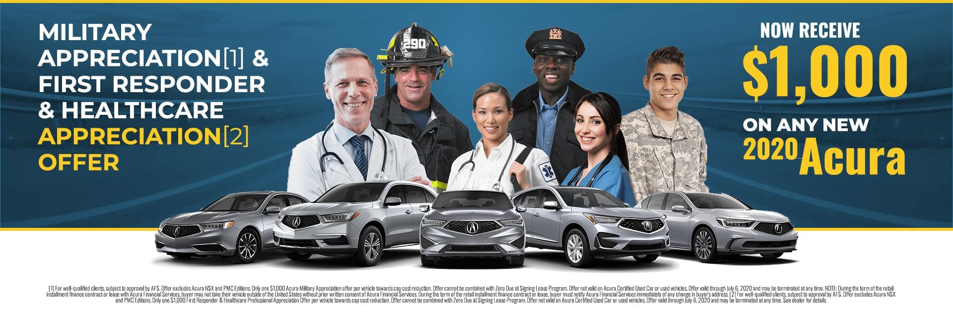 First Responders & Military get $1000 on new 2020 Acura