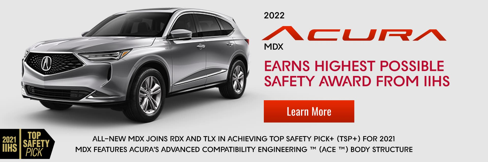 2022 Acura MDX Safety Award