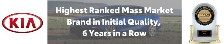 Kia Ranks #1 in Initial Quality by J. D. Power
