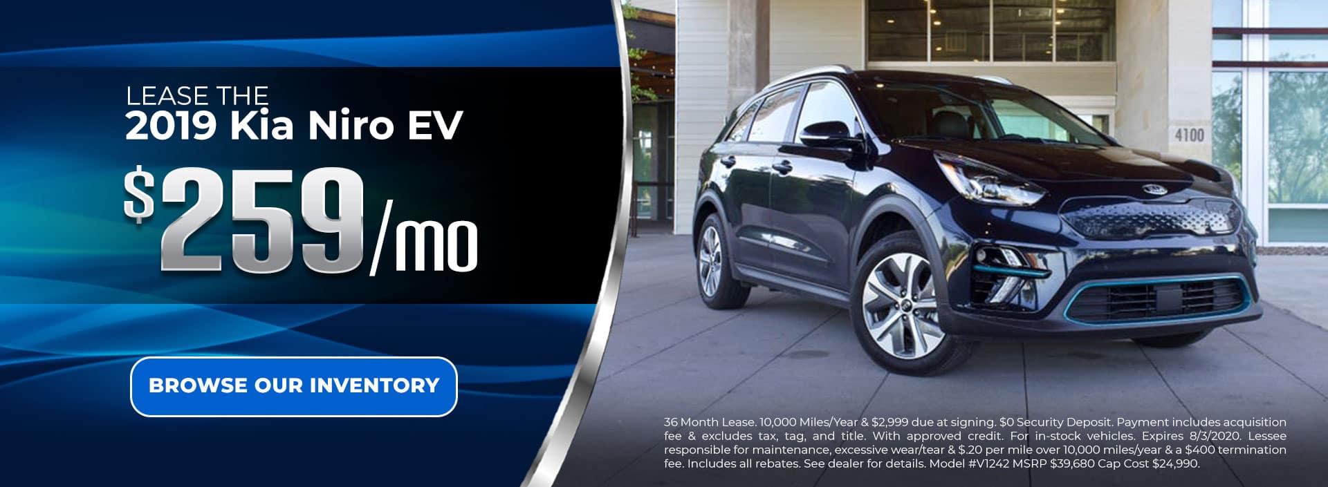 Lease 2019 Niro EV for $259/mo