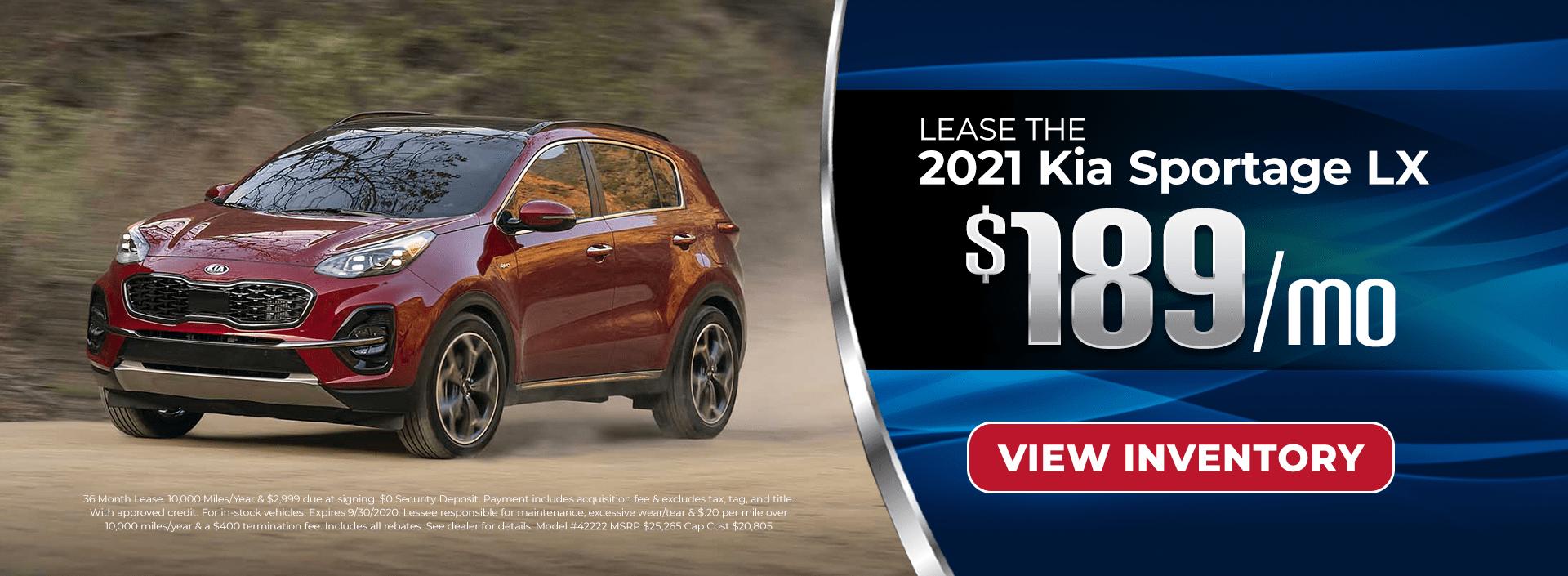 Lease 2021 Sportage for $189/mo in Atlanta, GA