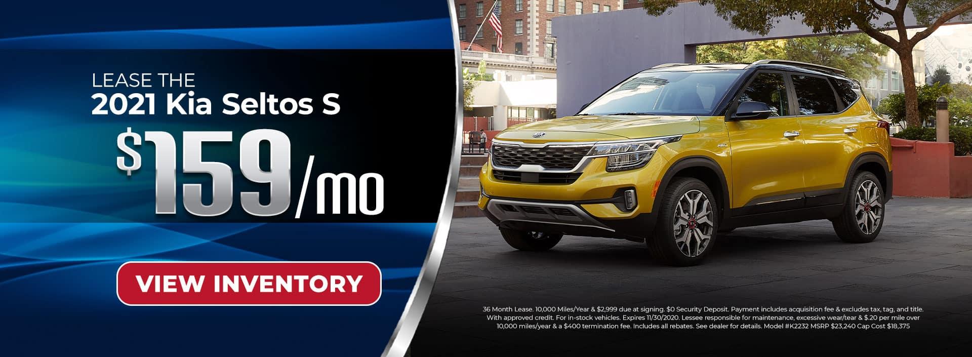 Lease 2021 Kia Seltos S for $159/mo in Chamblee, GA