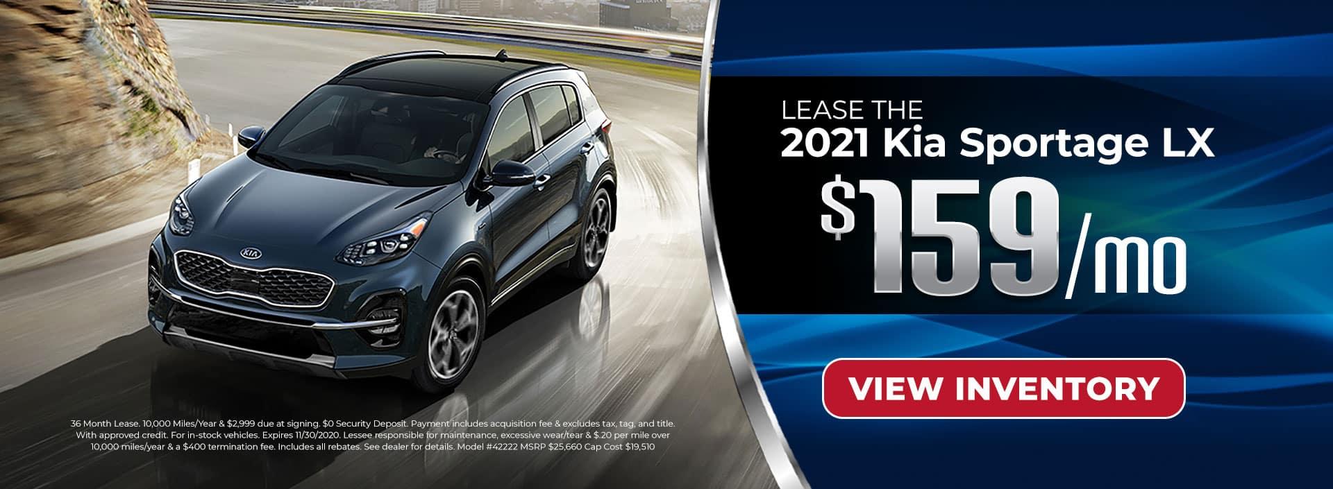 Lease 2021 Sportage for $159/mo in Atlanta, GA