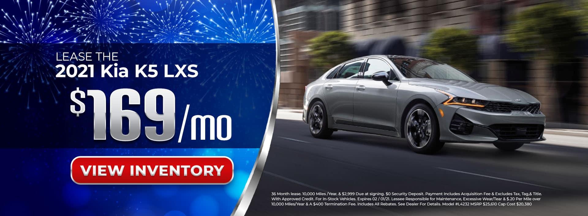 Lease 2021 Kia K5 for $169/mo in Atlanta, GA