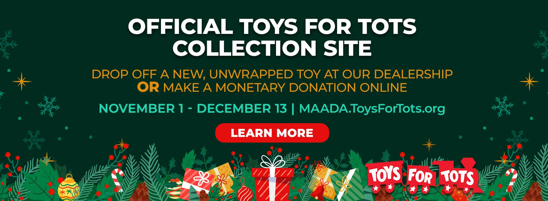 Donate to Toys for Tots in Atlanta, GA at Ed Voyles Kia of Chamblee