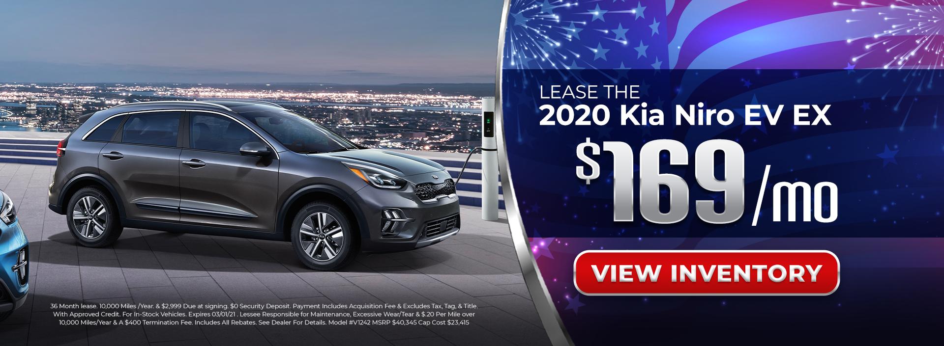 Lease 2020 Kia Niro EV for $169/mo