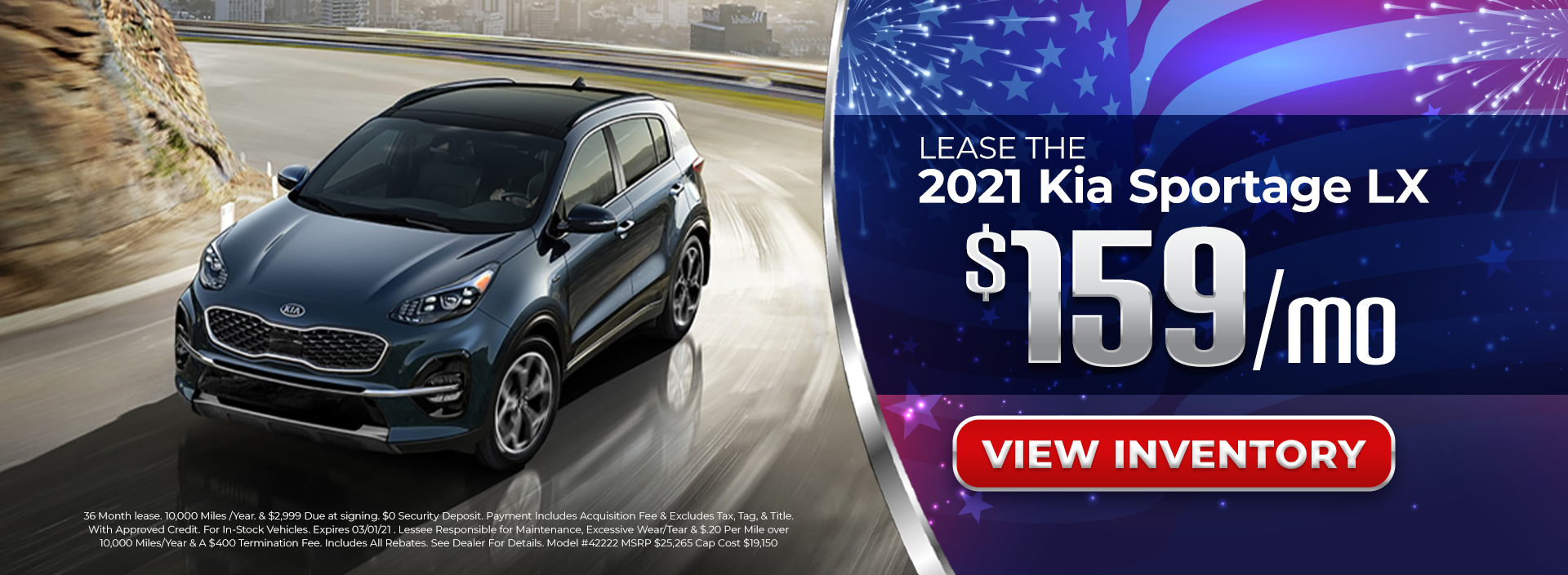 Lease 2021 Sportage for $159/mo in Chamblee, GA