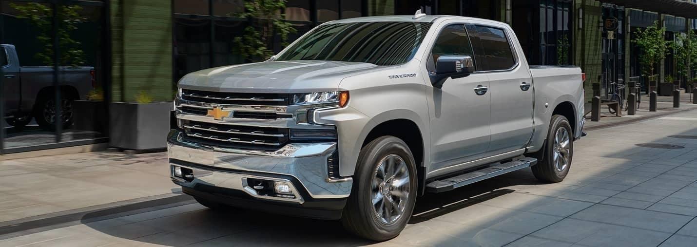 2019 Chevrolet Silverado truck in silver