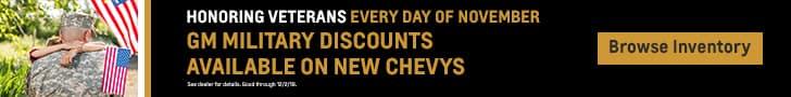 Veterans Day GM Military Discounts all Nov.